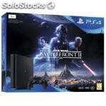Consola sony PS4 1TB negra + star wars battlefront ii
