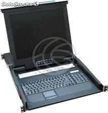 """Console KVM rack 19 \""""8-port with Spanish keyboard RackMatic (RK02-0002)"""