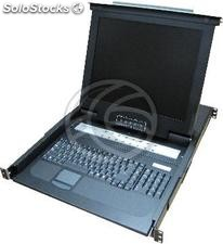 "Console KVM rack 19 ""to 16 ports with Spanish keyboard RackMatic (RK03-0002)"
