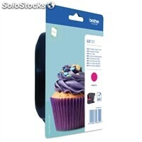 Consumible brother Cartucho LC123MBP Magenta Blister