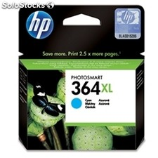 Consumible hewlett packard hp 364XL CB323EE cartucho cian alta capacidad