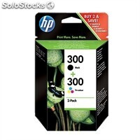 Consumible hewlett packard Multipack 1x300 Negro + 1x300 Color CN637