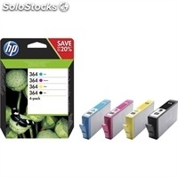 Consumible hewlett packard N9J73AE Cartucho 364 multipack (4colores) inyección