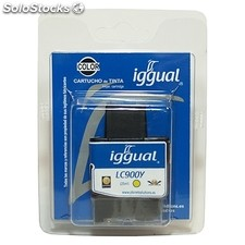 Consumible IGGUAL cartucho reciclado Amarillo Brother LC900Y