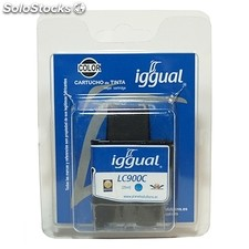Consumible IGGUAL cartucho reciclado Cian Brother LC900C