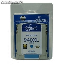 Consumible iggual Cartucho Reciclado cian hp 940XL c