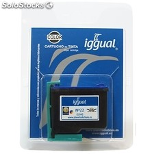 Consumible iggual Cartucho Reciclado Color hp C9352A n.22
