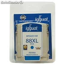 Consumible iggual Cartucho Reciclado Cyan hp C9391A n.88XL
