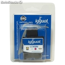 Consumible IGGUAL cartucho reciclado magenta Brother LC900M