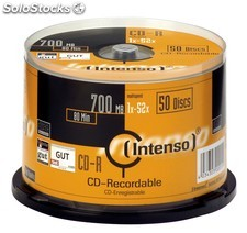 Consumible intenso CD-r 700MB 50PCS 52X tarrina PGK02-70100152