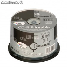 Consumible intenso CD-r 700MB 50PCS 52X tarrina PGK02-70100153