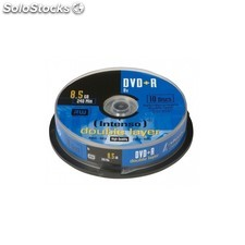 Consumible intenso DVD+r 8.5GB dl 10PCS 8X tarrina