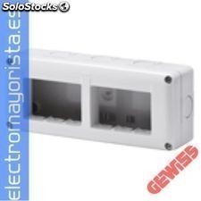 Cont.combi system 40 6MOD.mult.hor.IP40 gewiss Referencia: GW27005