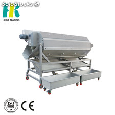 Continuous potato peeler brush washing equipment potato peeling machine