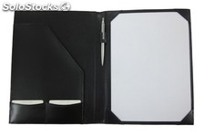 Contract Cover A 4 Black Bonded Leather