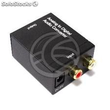 Converter analog audio to digital with a toslink and coaxial 2xRCA (VD48-0004)