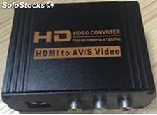 Convertidor/Adaptador hdmi a av/s-Video de hdcp 1080P