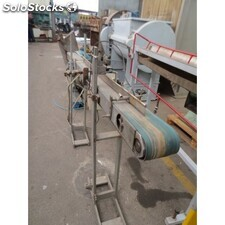 Conveyor 2000 mm long and 100 mm wide, 0,25 hp geared motor