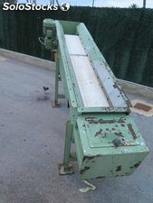 Conveyor belt with magnetic drum of 2 m x 0.25. Reducer motor 1.5 hp