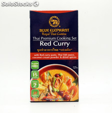 Cook set red curry 6x95g blue eleph