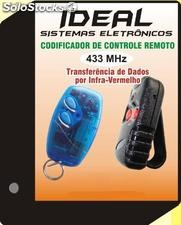 Copiador de controles remoto 433mhz code learning (Bivolt)