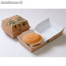 "Coquille burger standard ""feel green"" 12x12x5 cm marron carton"