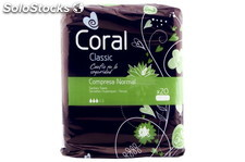 Coral Compresa Classic Normal 20und. Coral