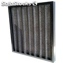 Corrugated metal cloth filter g2 - wash-proof - separating capacuty: 75% pleated