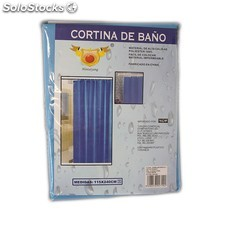 Cortina de baño impermeable de color azul