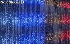 Cortinas led de navidad color multicolor para interior o exterior (envio gratis)