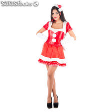 Costume Mamá Noel sexy Rosso