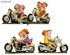 Couple de motards - 10cm