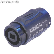Coupling/adapter, Speakon Negro 4p