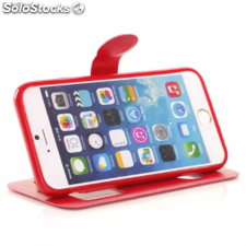 "Cover Custodia Orizzontale s-View Vera Pelle 4,7"" Apple Iphone 6"