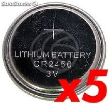 CR2450 3V Lithium Battery 5 units (EN37)