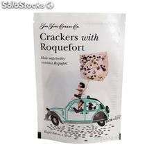 Crackers con roquefort