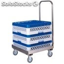 Crate rack trolley - mod. cp14 - entirely made from stainless steel without