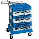 Crate rack trolley - mod. cp14a - abs base with stainless steel handle -