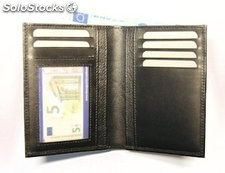Creditcard Holder Black Cowhide Leather