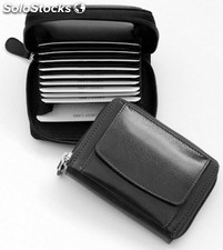 Creditcard Holder Black Cowhide Nappa Leather