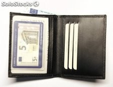 Creditcard Id Holder Black Cowhide Leather