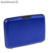 Crédito Relieve aluminio Card Case (azul)