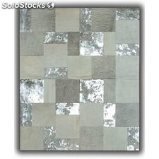 Croco blanco-gris patchwork - home