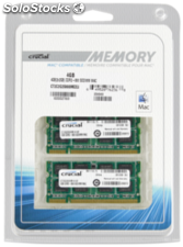 Crucial 4GB (2x2GB) DDR2 800MHz PC2-6400 sodimm 200pin para Mac