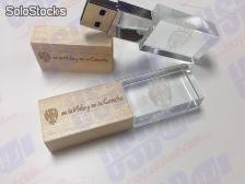 crystal usb flash drive wood cap en la vida y en la cancha 8gb