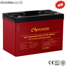 Cspower Gel Solar Battery, Deep Cycle Marine Battery 12V 100ah