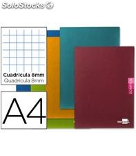 Cuaderno a4 8x8mm 48h 90grs surtido liderpapel 52160