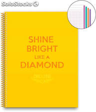 Cuaderno A4 Chic & Love Yellow 120 Hojas