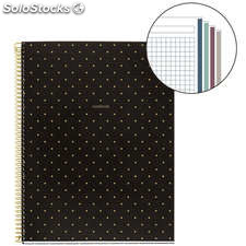 Cuaderno A4 Golden Collection Dots 120 Hojas