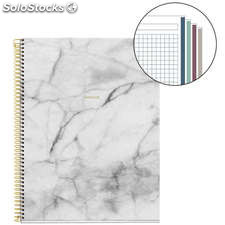 Cuaderno A4 Golden Collection Marble 120 Hojas